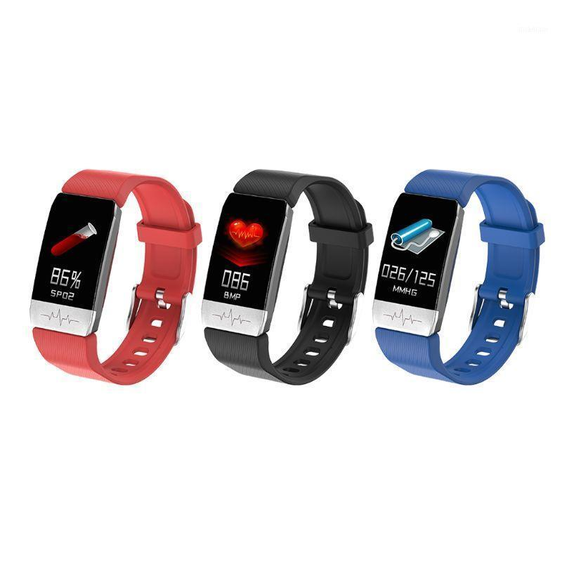 Pulseiras inteligentes t1s pulseira tempurature ritmo cardíaco monitor em tempo real Detector de dormir fitness sport watch1