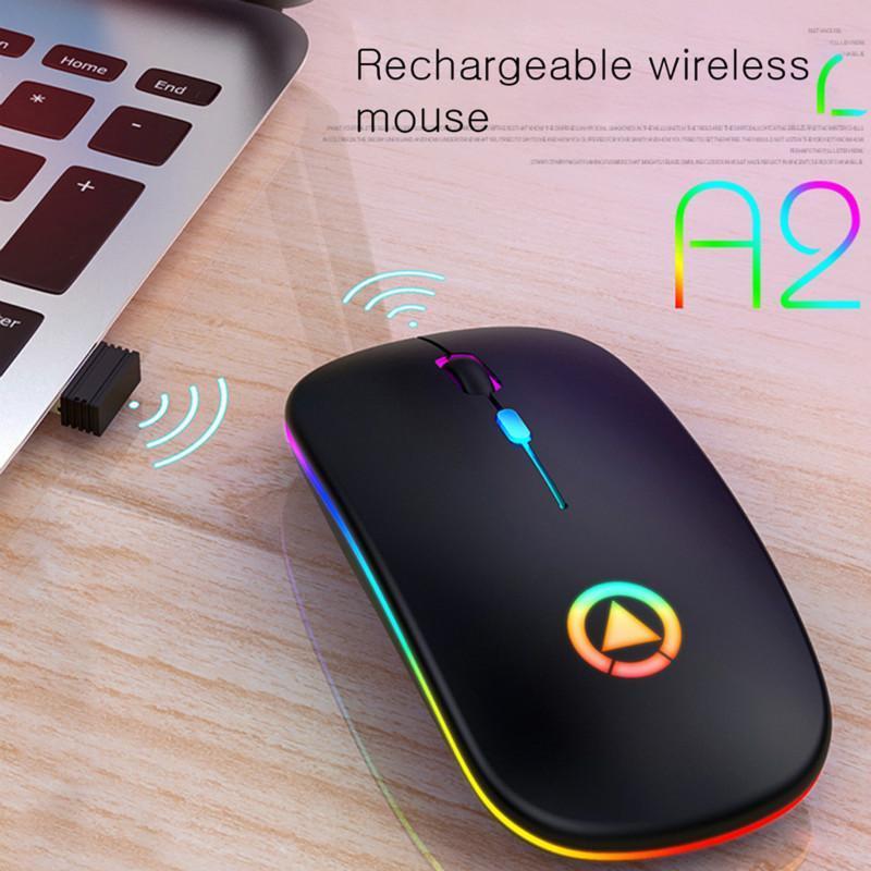 Recarregável mouse sem fio silencioso led backlit ratos USB óptico gaming ergonômico