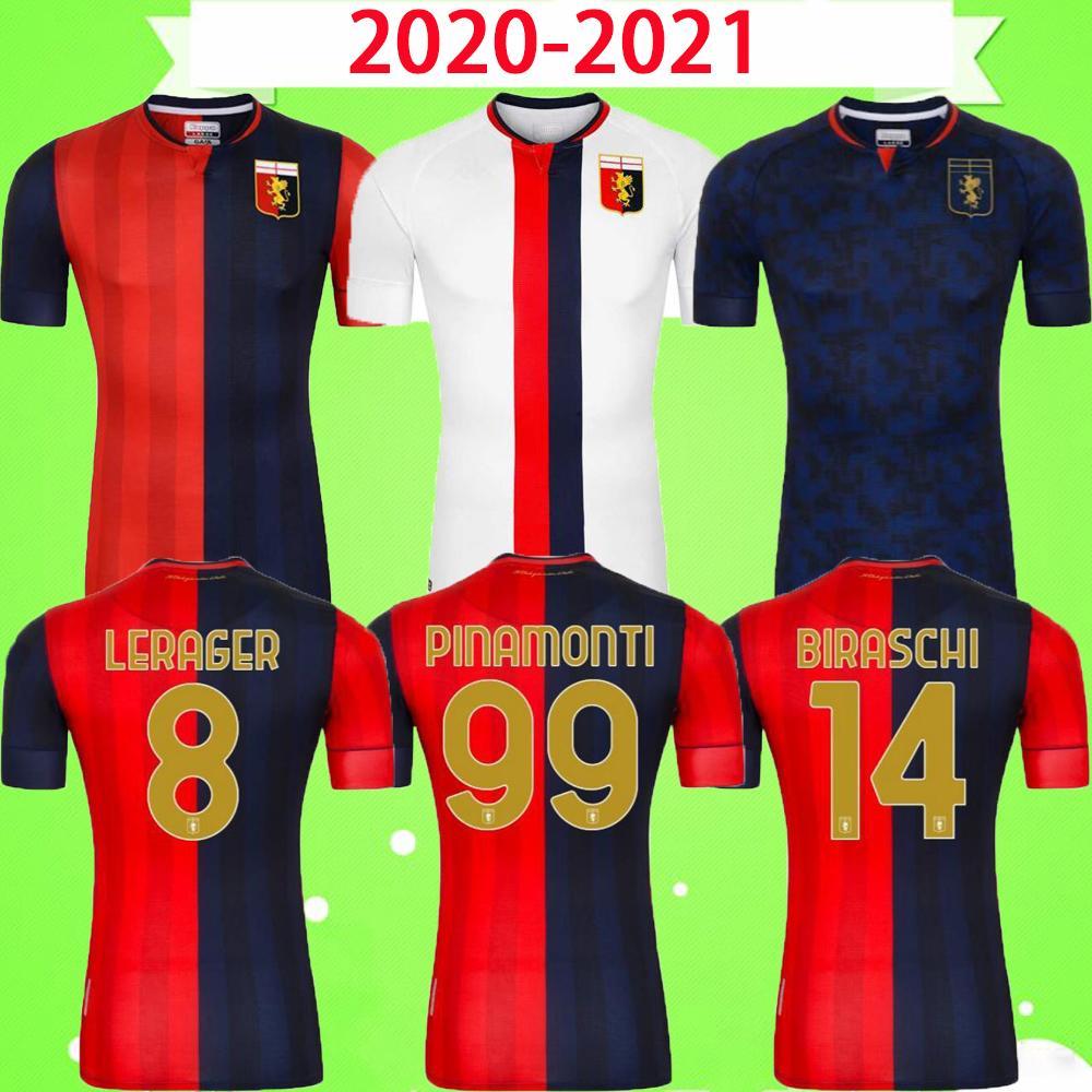 20 21 Genoa CFC Soccer Jerseys Home Away 2020 2021 Maglie da Calcio T.Sanabria Gumus Kouame Romero Sturaro S. Pinamonti Shirts Football