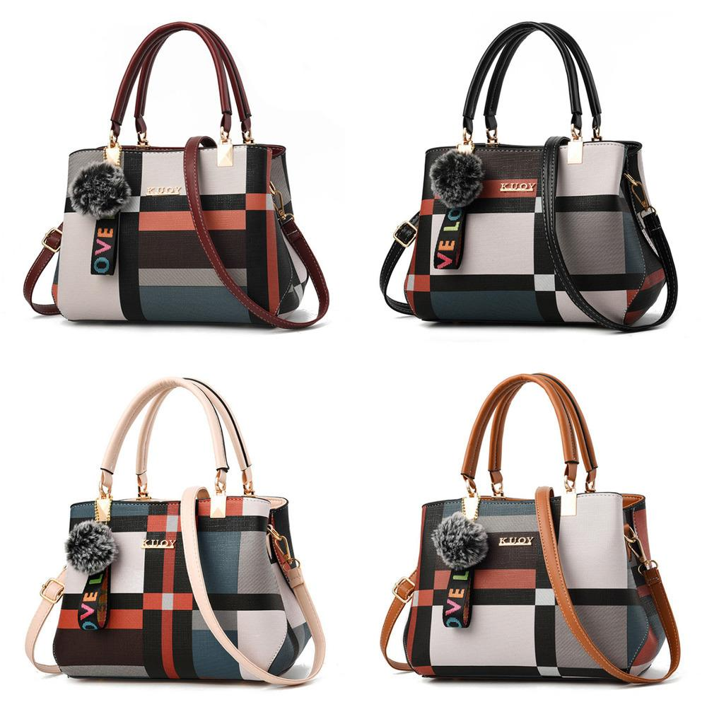 HBP 2021 New Luxury Handbag Women Stitching Wild Messenger Designer Brand Plaid Shoulder Bag Female Ladies Totes Crossbody Bags Q1230