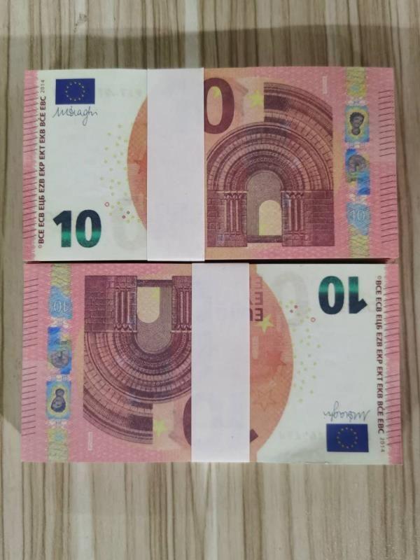 Hot-Reading Simulation Simulation SPORM Money 10 Игрушечная банкнота и евро 10 евро Toil Toy Toy Toil Film Hot-Reading Television Съемка реквизиты AAMT