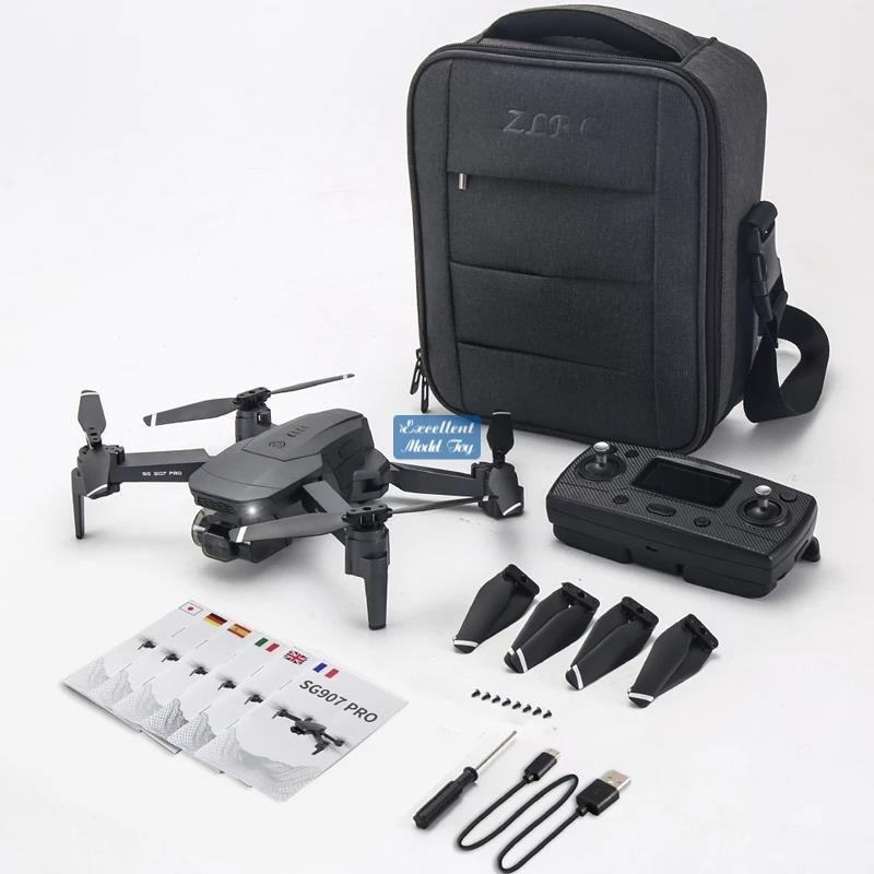 SG907 PRO 4K-HD Dual-Kamera 5G FPV-Drohne, 50x Zoom, 2-Achsen-Gimbal-Anti-Shake, bürstenloser Motor, GPS-Lichtstromposition, Smart Follow, 3-1