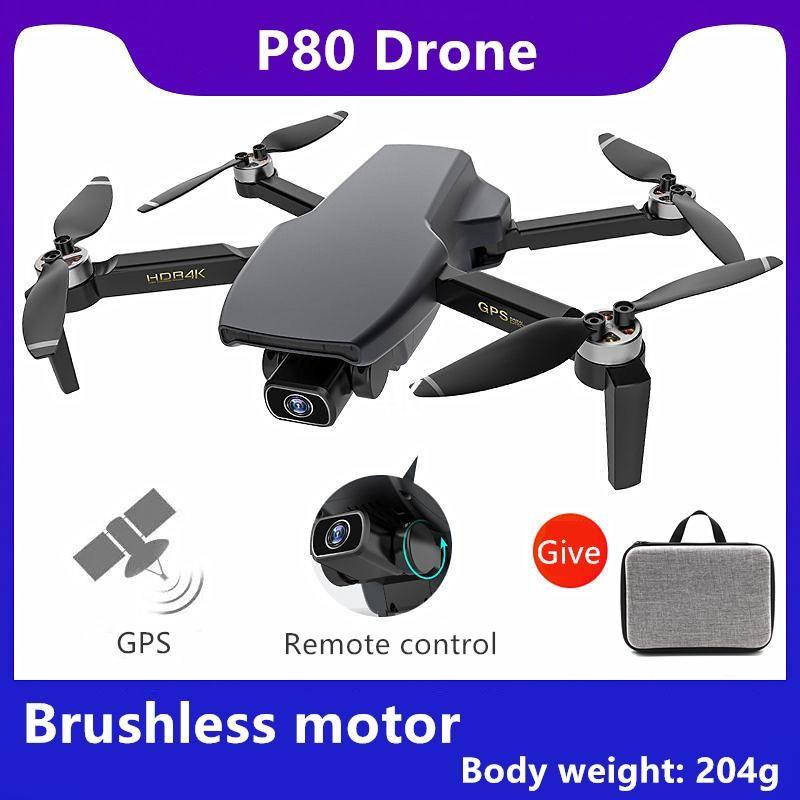 Drones Wecute P80 Удаленное GPS позиционирование RC Drone Бесщеточные складные 4K HD Aerial Poy Poy Professional Quadcopter