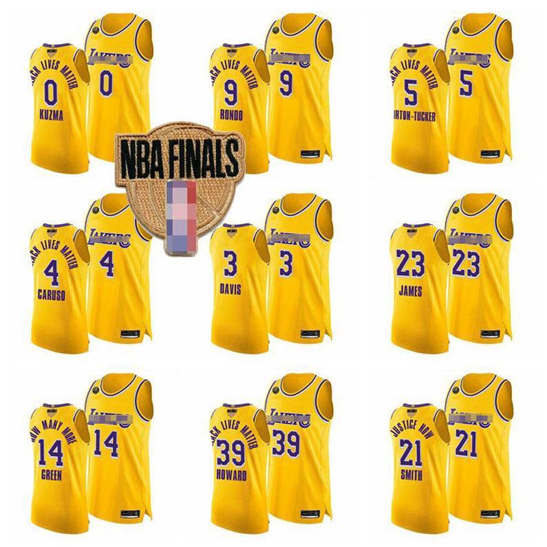 Hombres Los AngelesLakersKobeBryantLeBron James Anthony DavisNBA2020 FinalesNegroMamba Jersey 03
