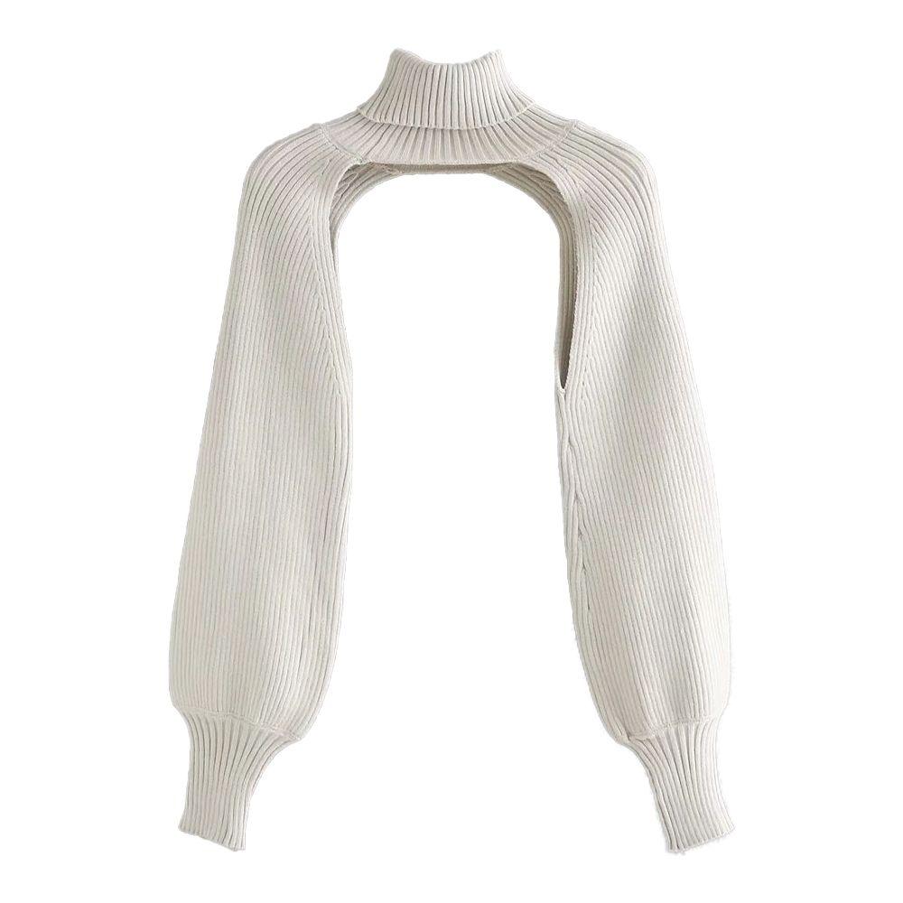 Novas Mulheres Malha Top Knit Braço Quentes Alto Neck mangas compridas Sweater casual camisola elegante femme vetement ropa mujer 201031