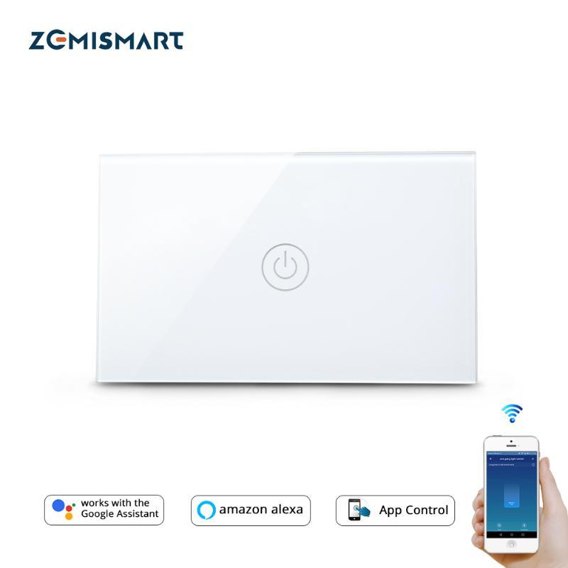 Smart Home Control Zemismart US TUYA WIFI Switch Sans fil neutre 1 2 3 Gang Alexa Google Assistant Life 110V à 240V
