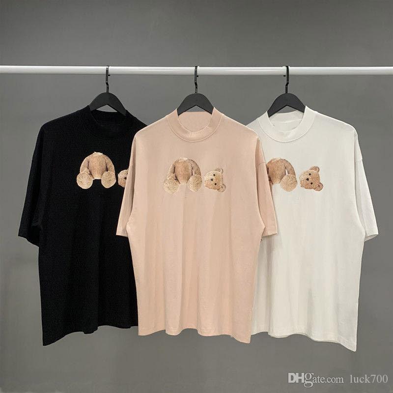 shirt dos homens camisetas de alta qualidade T Cotton Manga Curta Moda Homens Mulheres Camiseta Casal Branco Rosa Tees Tamanho S-XL