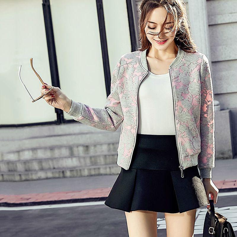 Fashion Windjacke Frauen Herbst Mäntel Langarm Grund Jacken Bomber Thin Damen Jacke Weibliche Jacken Outwear