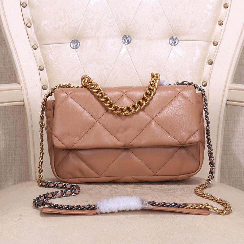 Sacs à bandoulière Sacs à main bandoulière Wallet Mode Femmes Sacs dames de haute qualité réel Véritable Mini Sheepskin Pure Color