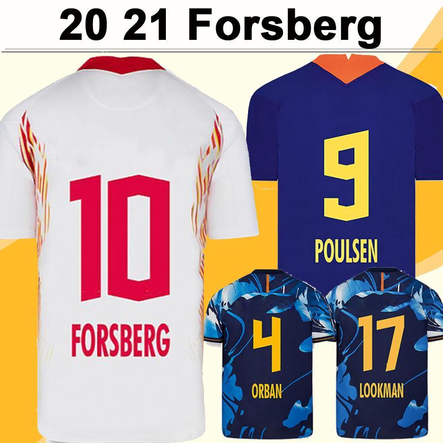 20 21 فورسبرغ KLOSTERMANN الرجال لكرة القدم الفانيلة RBL SABITZER POULSEN HALSTENBERG OLMO ADAMS HEE CHAN يمر- الرئيسية قميص كرة القدم 3RD بعيدا