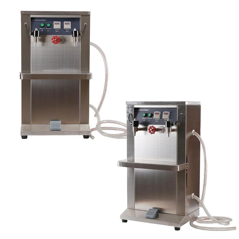 220V machine de remplissage liquide à double tête multifonctionnelle pour la bière de lait tainless machine de remplissage de liquide électrique vertical en acier 400W