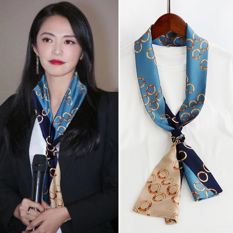 스카프 150 * 15cm 패션 여성 긴 머리 스카프 랩 숙녀 인쇄 된 kerchief 목 아름다운 목도리 편안한 DIY 리본 1