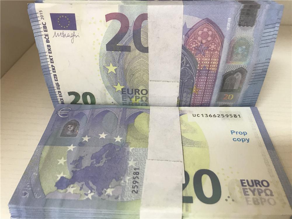 2021 Cross-Bordure Selling Moderne Moderne Euro 20 Copier Papier Banknote PROP ARGENT EURO 100PCS / PACK 026