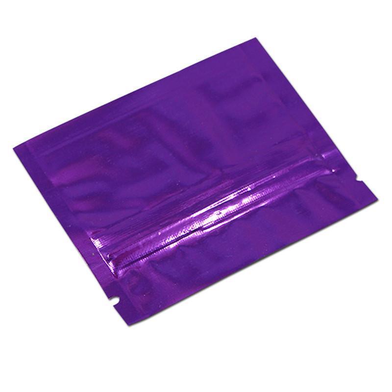 300pcs Lot 7.5x6cm Aluminum Foil Zip Lock Self Seal Packaging Bags Food Storage Ziplock Pouches Resealable Food Packing Bag H bbyjPK