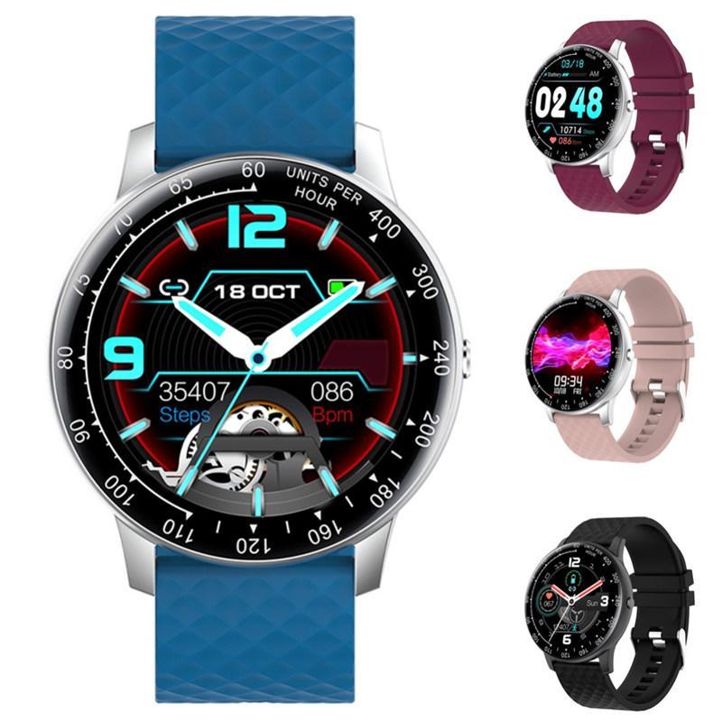 H30 الذكية ووتش الرجال النساء diy watchface لمسة كاملة اللياقة تعقب القلب معدل ضغط الدم الذكية ساعة IP68 أندرويد الذكية ووتش تاجر الجملة