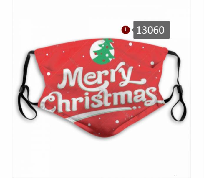 5 Merry Christmas Tasarımcı Yüz Whoelsale Katman Aktif Karbon Filtre Su geçirmez Nefes M şeklindeki Burun Klip Maske A12