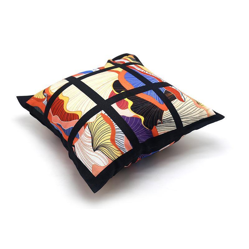 9 لوحة وسادة غطاء فارغة التسامي وسادة القضية شبكة سوداء المنسوجة البوليستر نقل الحرارة وسادة غطاء رمي أريكة وسادات KKB4177