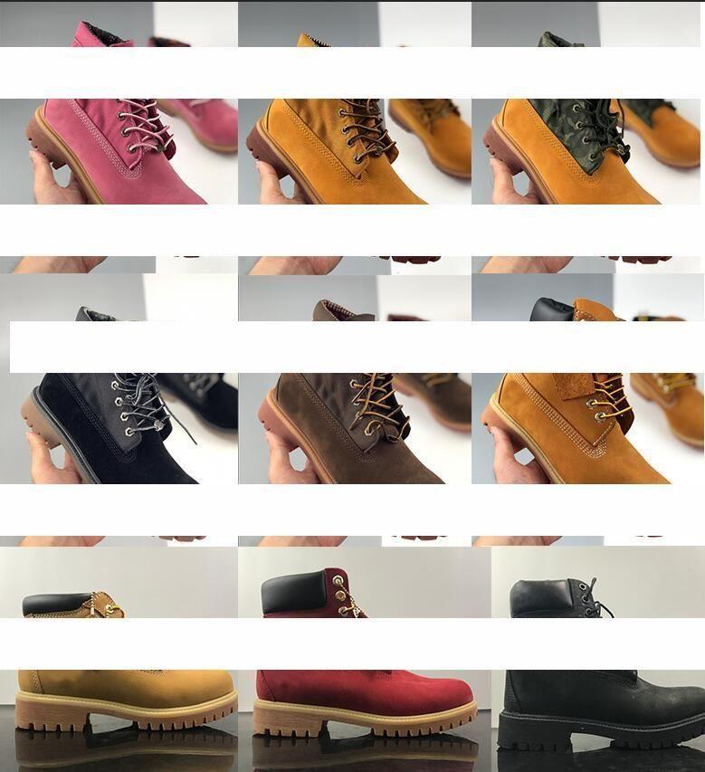 2020 bottes classiques hommes concepteur hommes de TBL femmes chaussures en cuir Bottines d'hiver pour Triple jaune cow-boy militaire blancbois Bla 46Tg #