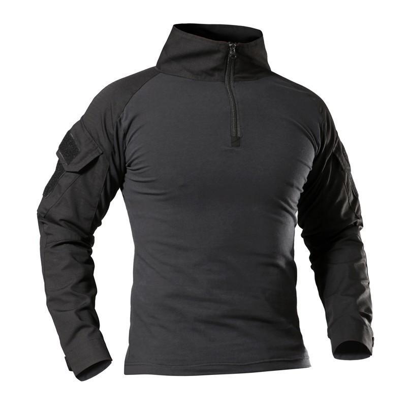 Erkekler Açık Yürüyüşü Tırmanma Avcılık Tişörtlü Taktik Askeri Uzun Kollu T Shirt İlkbahar / Yaz Hızlı kurutma Spor Tees 201004