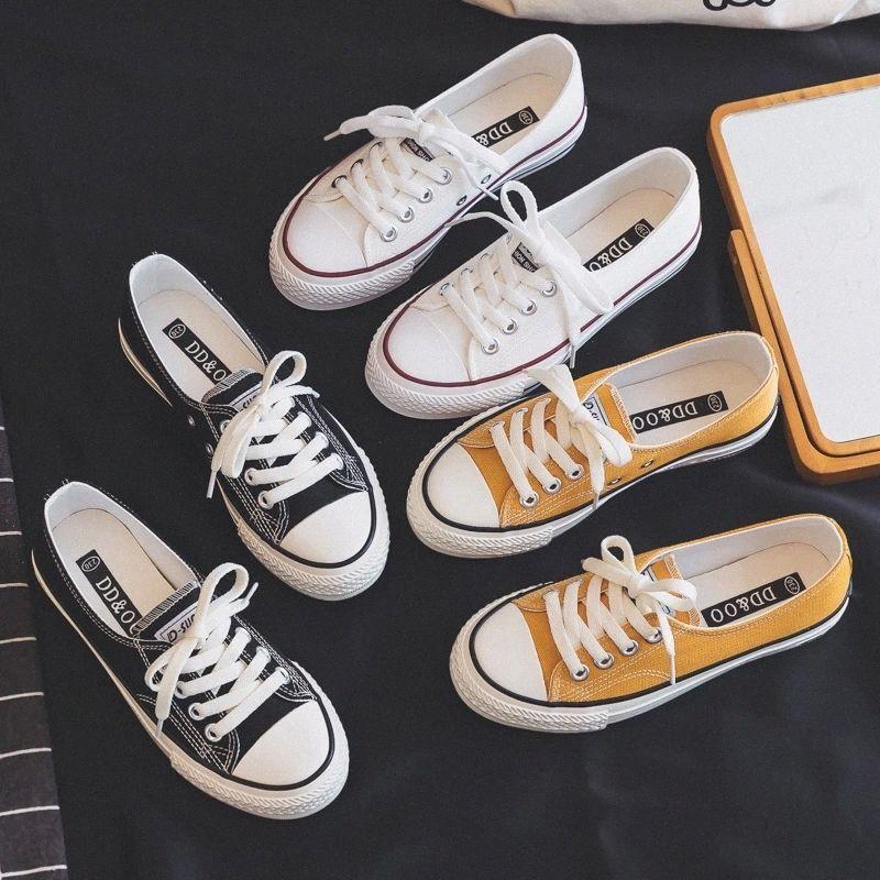 Mulher sapatos 2019 verão nova moda lona sapatos rasos mulher apartamentos casuais simples mulheres casuais sapatilhas respirável # uw05