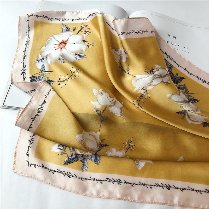 Européen et américain de style britannique de style Petit Carré Version coréenne du printemps et l'automne Ladys Fleur mode élégante xiao de la jin