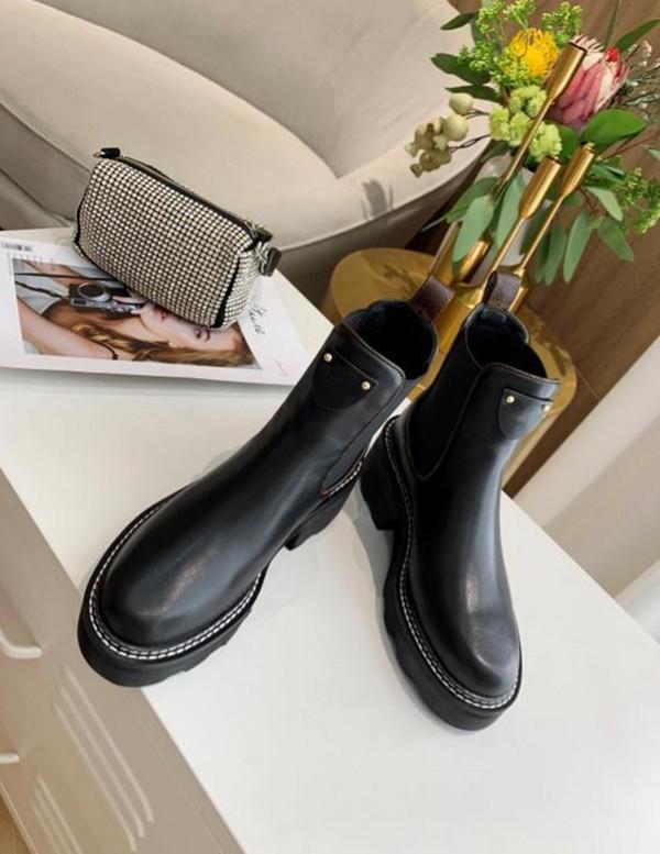 Zapatos del diseñador de moda para mujer Botas Marcas Martin Plataforma Botas Botas de trabajo Bota de la nieve Señora Beaubourg tobillo botas de invierno grande del tamaño 35-42