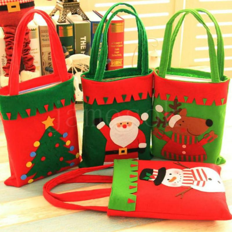 Christmas bags Decorative Tree Bag Gifts Sack Handbag Christmas Candy bag Portable Party Supplies Christmas Decoration da928
