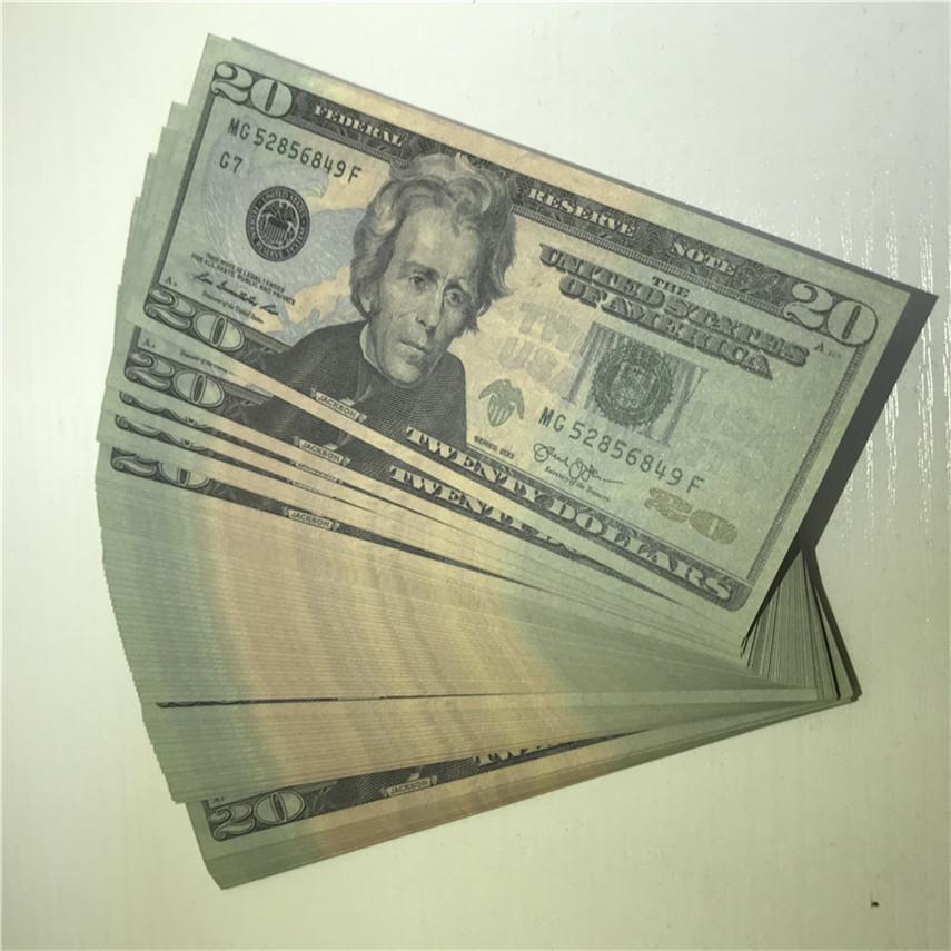 100 Papier Qualité FAST PSDIO U.S. Pièces / Forfait Money Subscriptions en gros Copie Haut de la monnaie Monnaie d'expédition 20-5 JTFNI