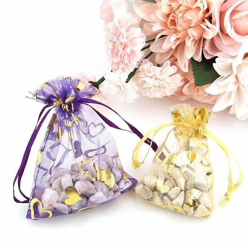 Bolsa Europea Raíz Hilados Hilados Bronceador Amor Bolsa nieve Bunching Boca perla del ornamento del regalo del paquete de caramelo / bolsa de papel de regalo cajas de regalo de papel P Ze9O #