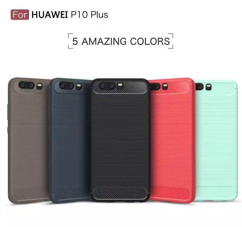 Caso Armadura fino para iPhone 11 12 X XS XR Max galáxia S8 S9 Plus Nota 8 Carbon Fiber escovado TPU tampa traseira