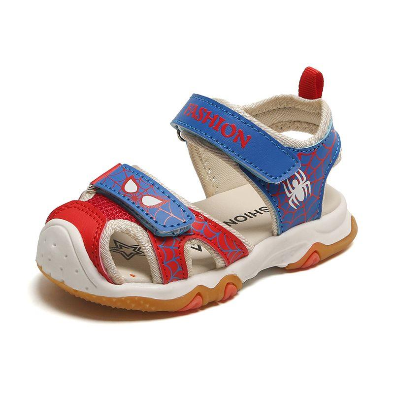 sandalias de bebé de verano para los muchachos de las sandalias de los niños pequeños zapatos de los niños de tela de moda de playa zapatos inferiores suaves del niño
