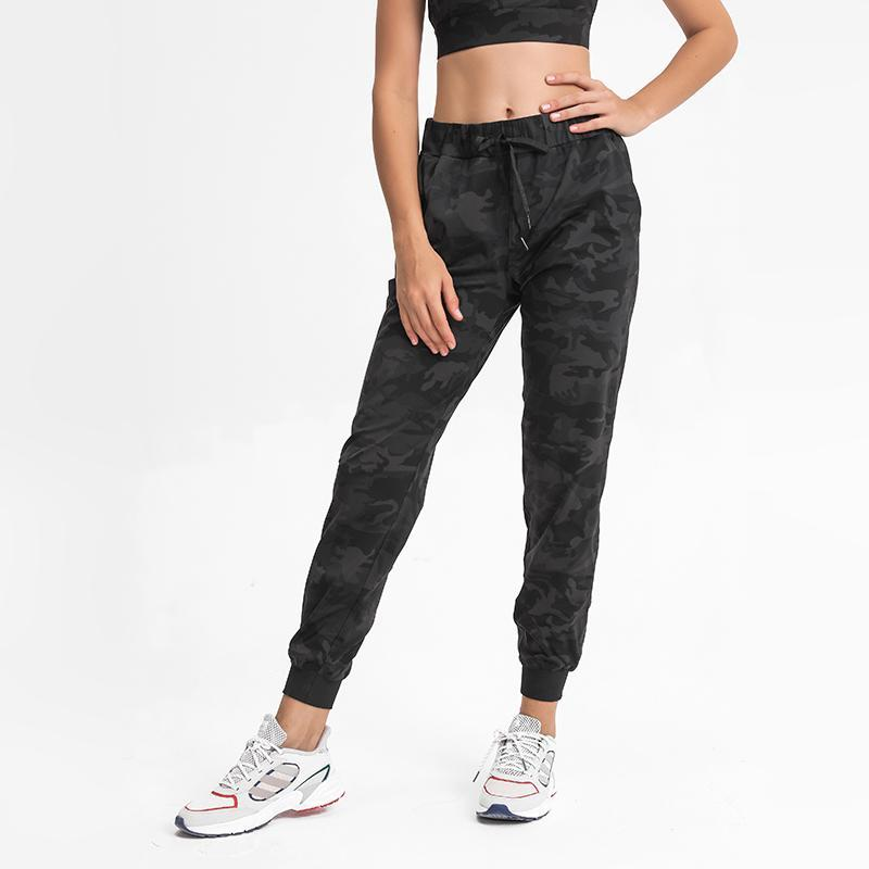 Trajes de yoga ABS LOLI Naked Feel Joggers Mujeres Drawstring Cintura Entrenamiento Tapered Sweatpants Femenk's Track Pantalones deportivos Pantalones con bolsillos