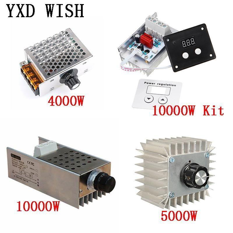 AC 220V 4000W / 5000W / 10000W SCR 전압 레귤레이터 디밍 LED 조광 모터 속도 컨트롤러 온도 조절 장치 220 V 전원 공급 장치