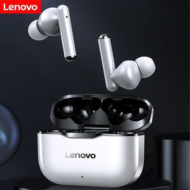NEU Original Lenovo LP1 TWS drahtloser Kopfhörer Bluetooth 5.0 Dual Stereo Noise Reduction Bass Touch Control Lange Standby 300mAH