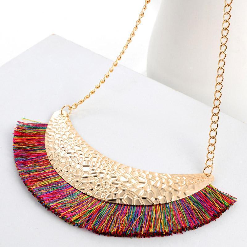 HESIOD Semplice moda vintage collier femme tassel collana girocollo per donne gioielli colletto catena mujer1