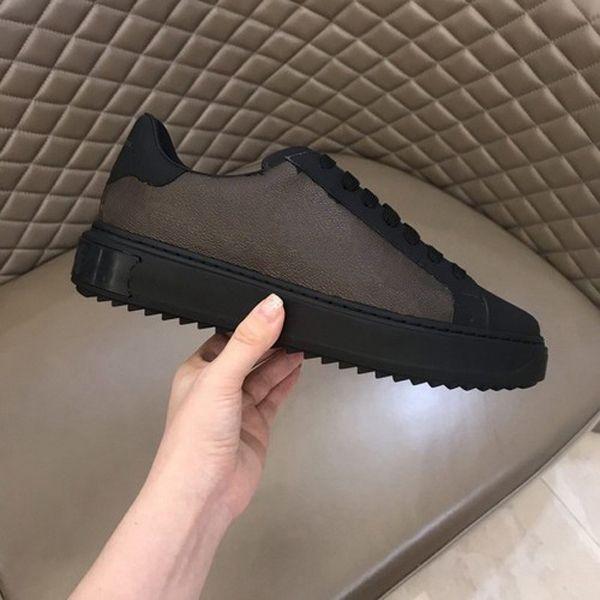 Scarpe da uomo caldi Scarpe casual Vero in pelle da sneakers in pelle mocassini Lace Up Low Top Fashion Lussurys Designer Scarpe uomo con scatola taglia 38-45