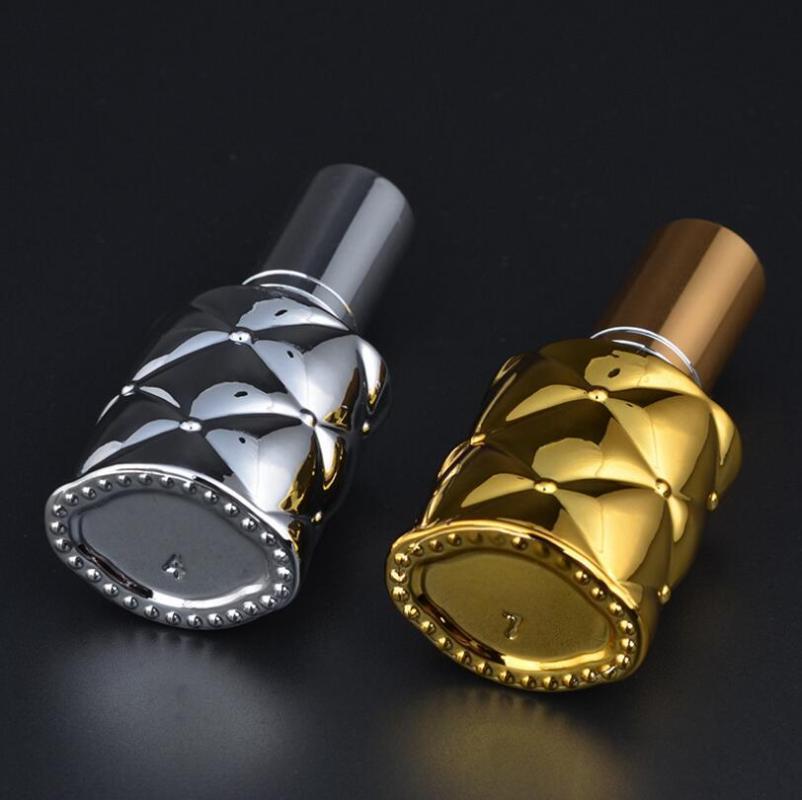 100шт UV покрытие стекла 10ml спрей Empty Bottle Gold / Silver Fine туман насос Флакон новый