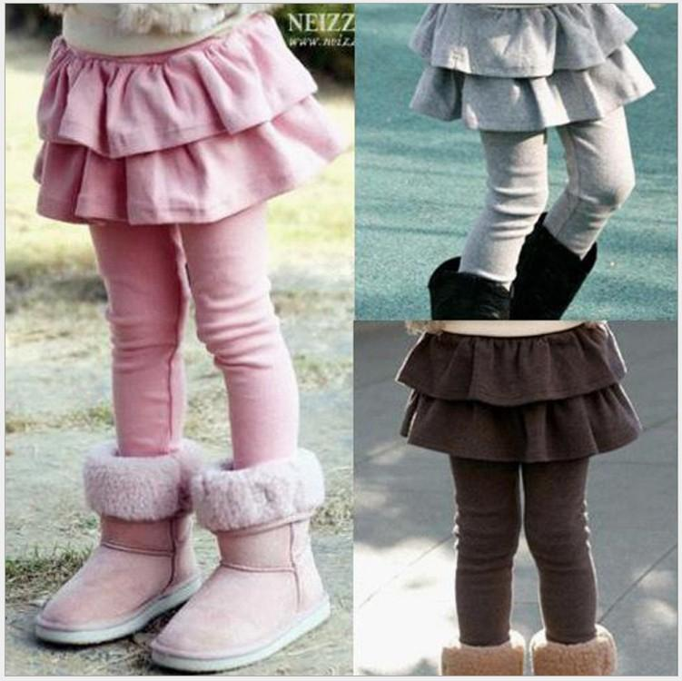 Autumn girls inverno Leggings Pants Pantskirt Crianças Thicken Quente Calças Baby Girl Pantskirts crianças Leggings Pantskirt