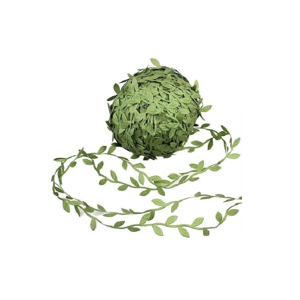 20m / rollo de hojas Vine DIY Flower hoja artificial para bodas Decoraciones para el hogar 2021 NUEVOS Hojas verdes falsas Suministros de fiesta de corona Decoración Al8467