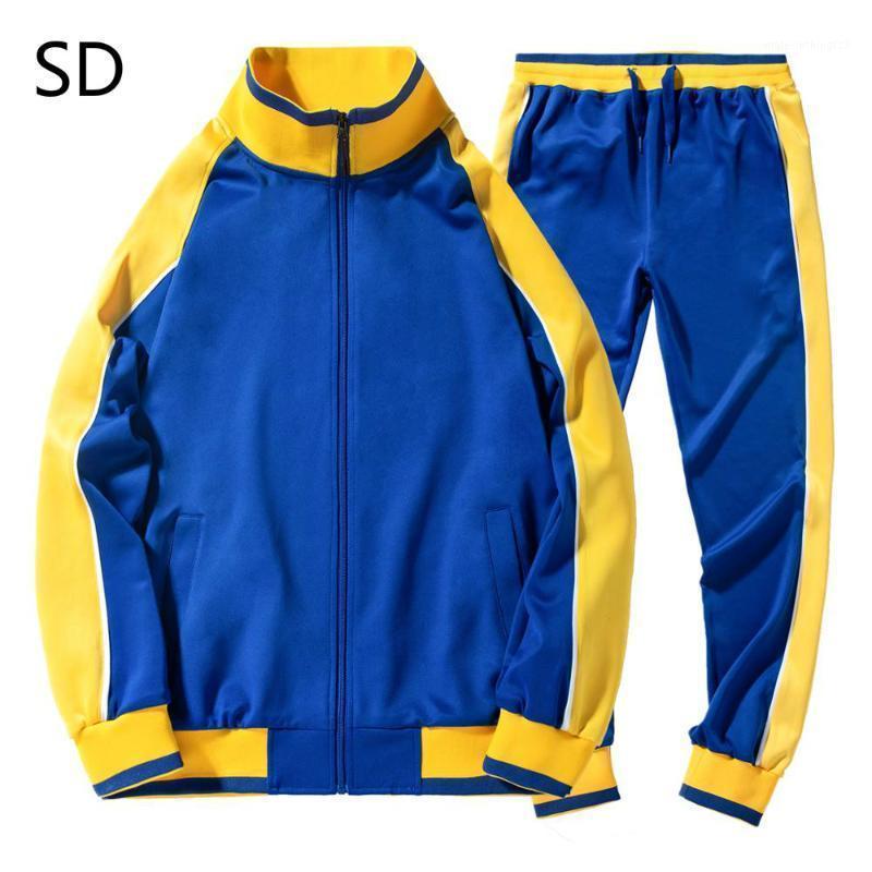 Chándales de los hombres chándals de chándals chaquetas de cremallera de primavera + pantalones 2 piezas conjuntos masculinos delgado ropa deportiva moda casual 2pcs hombre de la calle de los hombres