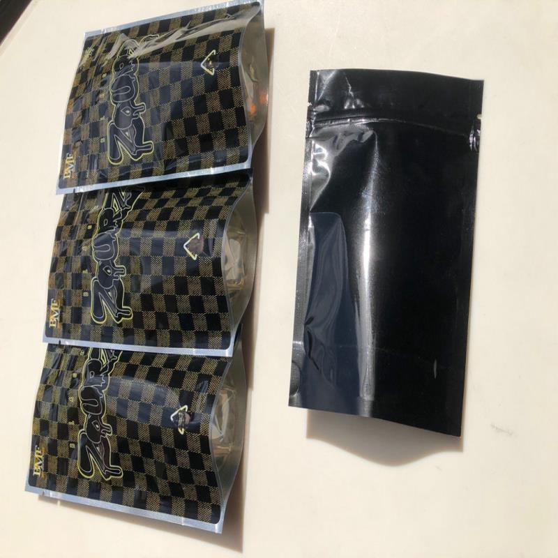 BMF Şakalar Up Siyah Zourz 3.5g Mylar Çanta Yerel Boş Çanta Yemekleri Ambalaj Ljyyx