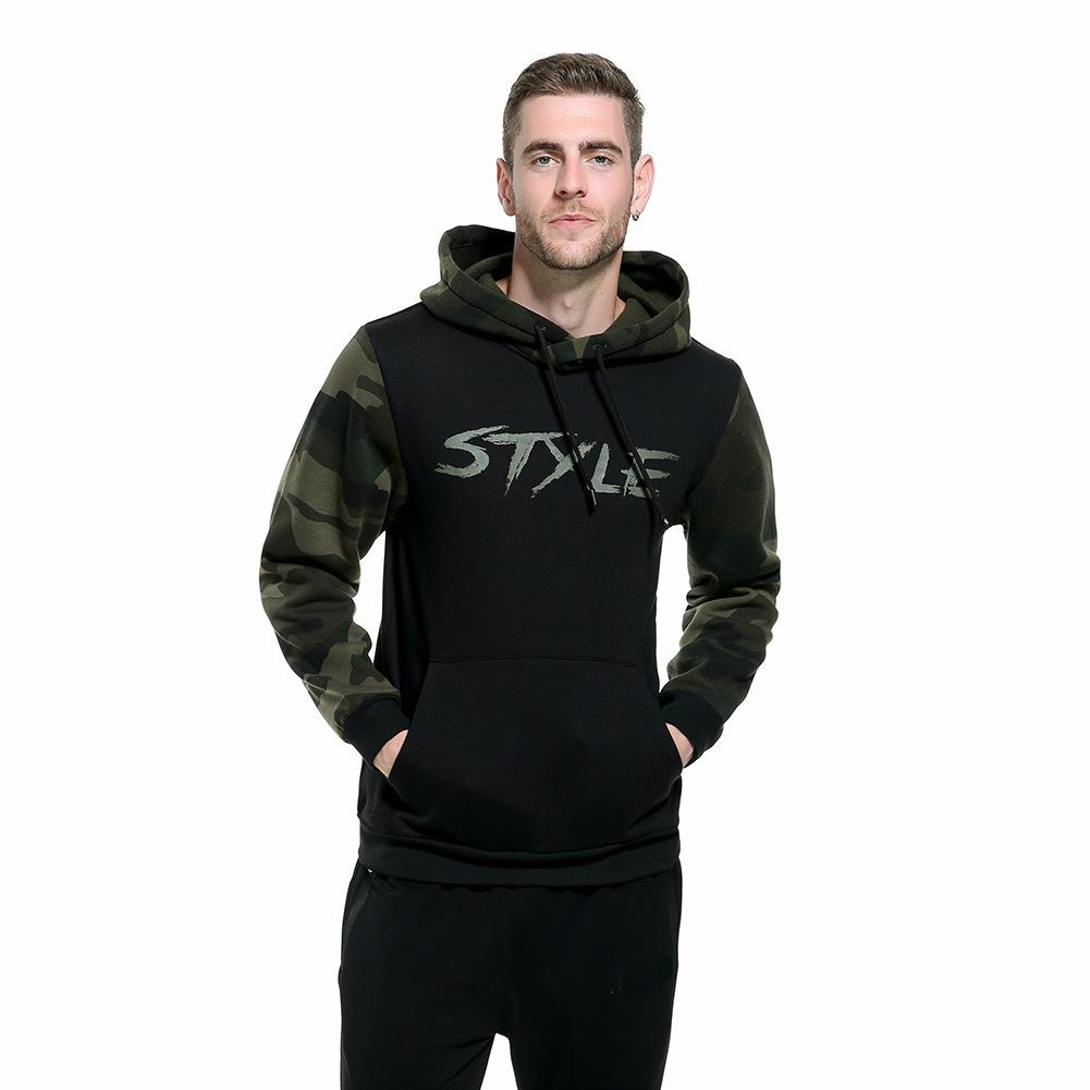 2020 camuffamento cappuccio Mens Hiphop Skateboard Primavera Autunno Sport Felpe con cappuccio Pullover Homme Top