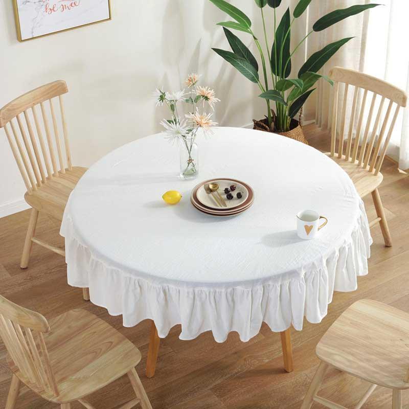 Высококачественные белые круглые столовые ткани для свадебной вечеринки отеля банкетный стол украшения таблицы сатин скатерть крышка полотенце