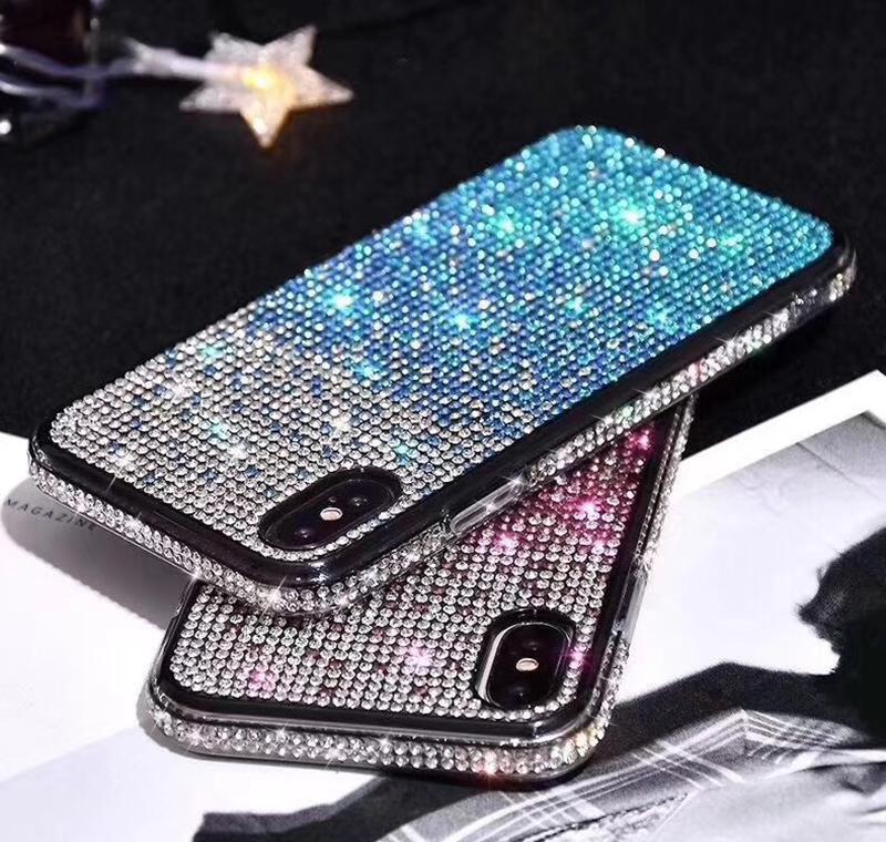 For Iphone 12 11 Mini Pro Max Xs X Xr 7 8 Plus All Diamond Glitter Back Phone Cases Bling Glitter Plating S qylBLR infant2005