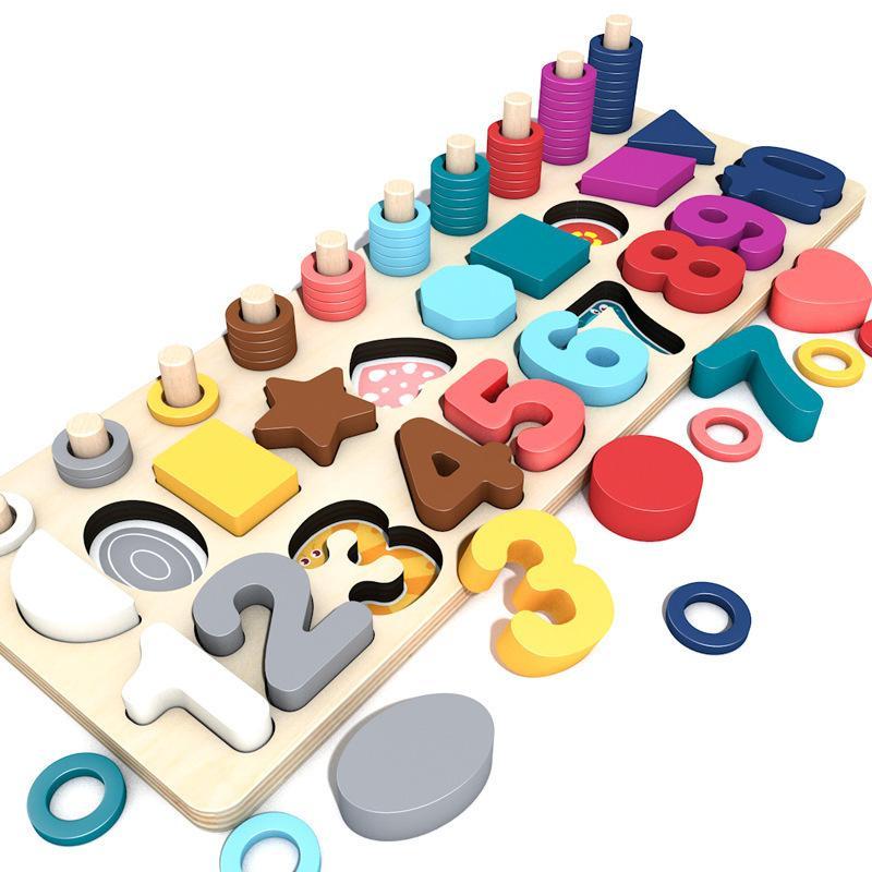 Kinder Eduactional Toys Multifunktions Logarithmic Board Montessori Pädagogisches Holzspielzeug für Kinder Holz Math Toys 201102