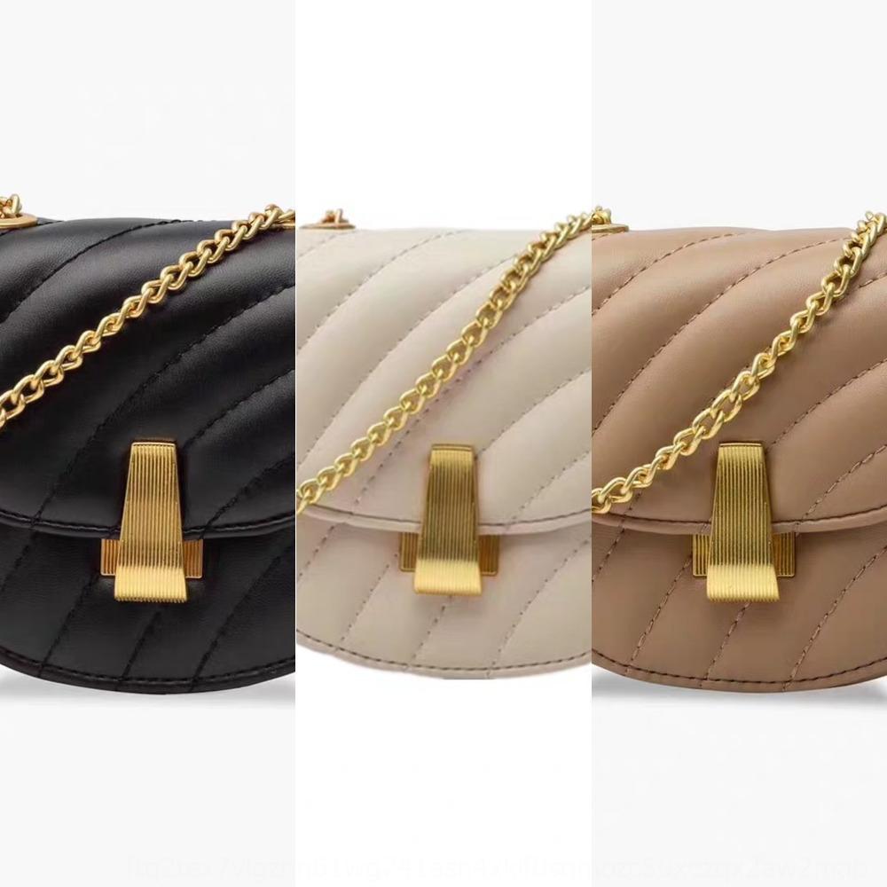 Ombro das mulheres sela nova cadeia cruz único meio saco de ombro 2020 Mini MK piggy diagonal rodada Saddle Bag Mini grande huKYp
