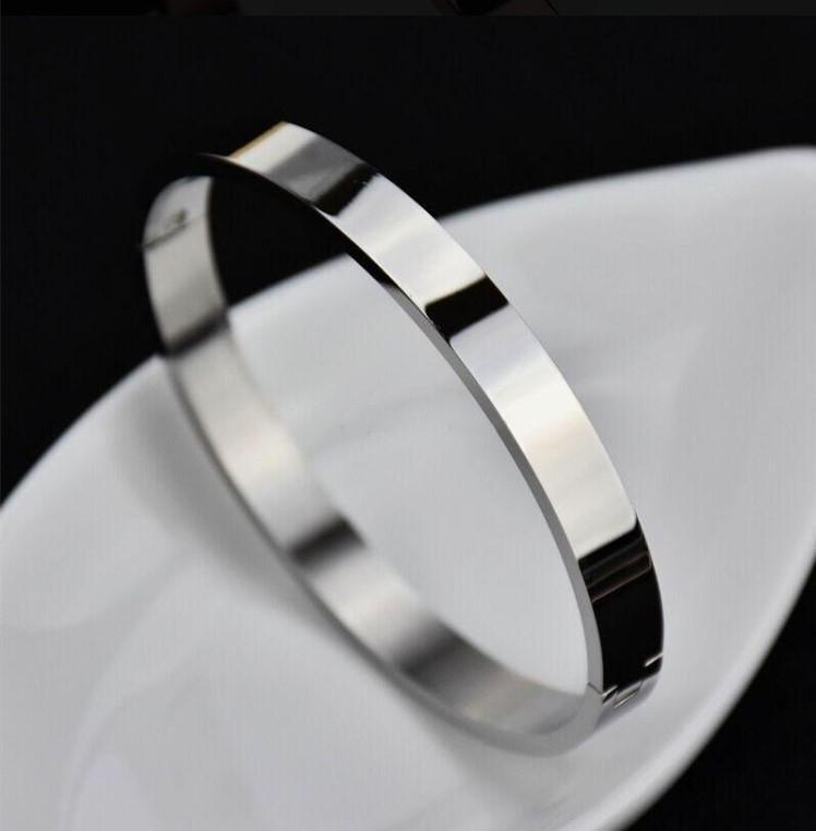 Braccialetto in acciaio inox oro rosa Bracciale in acciaio inox oro bianco con braccialetto di cristallo