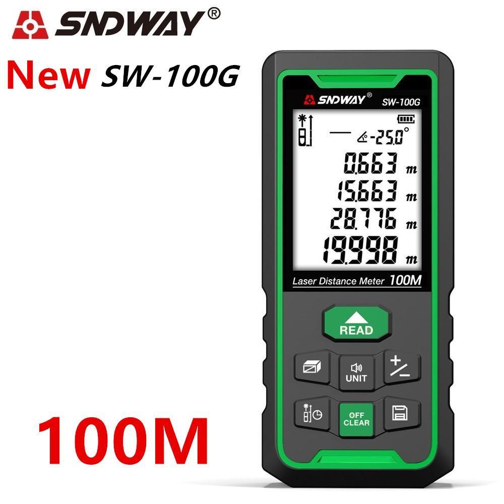 SNDWAY TRENA LASER DARGEDFINDER Зеленый лазерный рассеянный счетчик диапазон линейки линейки 100 м 70 м 50 м рулетка электронный уровень рулетки T200603
