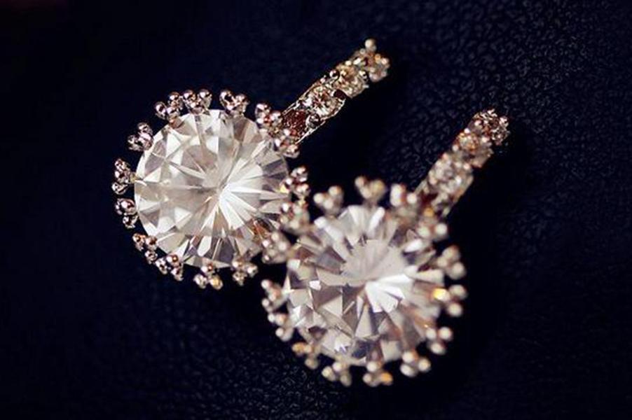 스터드 귀걸이 신부 웨딩 귀걸이 화이트 보석 귀걸이 골동품 Bijuterias 크리스탈 Earings