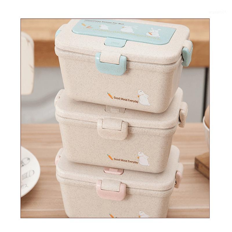 Children Lunch Box Water Cup Set Sealed Leak-proof Compartment Lunch Box Kitchen Storage Container Rangement Cuisine1
